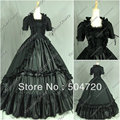 V-371 Black Classical Vintage Gothic Lolita dress/victorian Southern belle dress Civil War Halloween dress All Size
