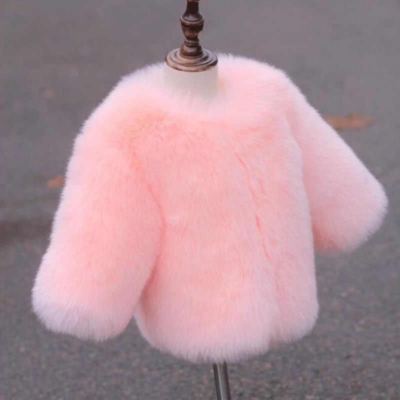 חורף שועל פרווה וסטים עבור בנות פעוטות מעיל אפודות ילדה פו פרווה חזיית ילדים הלבשה עליונה