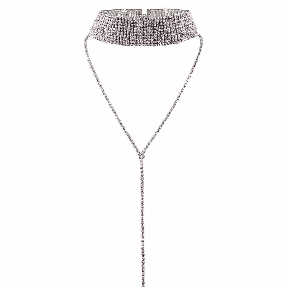 Rhinestone Crystal Luxury Choker Statement Necklace Jewelry 4