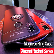 Luxury Magnetic Holder Case Redmi 7A Note 7 Soft Silicone Ring Pro Cover Xiaomi