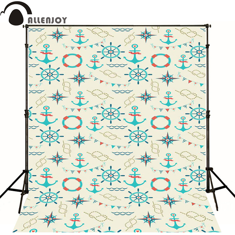 Kate Photographic background Compass rudder sea ship newborn vinyl backdrops  send rolled  interesting wall floor