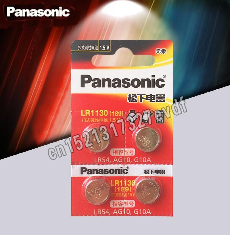 4pcs/lot Panasonic Battery Cell 1.5V AG10 LR1130 Alkaline Button Battery AG10 389 LR54 SR54 SR1130W 189 LR1130 Button Batteries