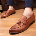 2016New Loafers Men Oxford Flat Shoes Top brand Men Moccasins Shoes Wedding Leather Men Shoes Casual zapatos hombre Freeshipping