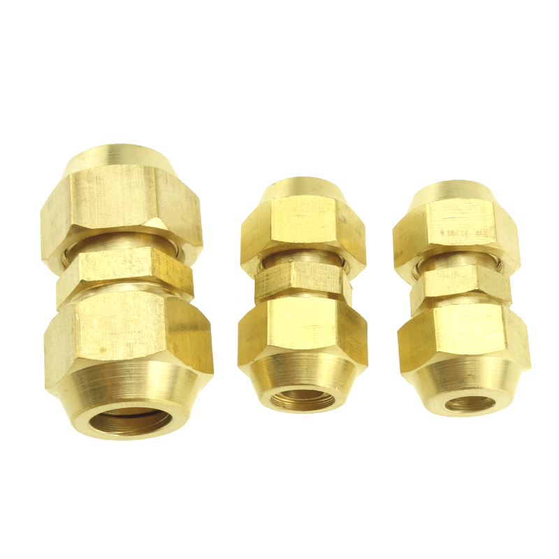 Brass Pipe Fitting 45 Degree Flare Fitting Union Connector 6mm 8mm 10mm 12mm 16mm 19mm 25mm