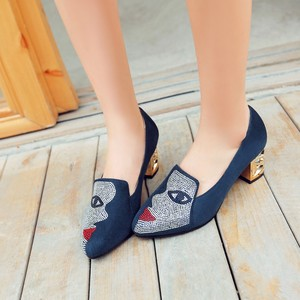 Image 2 - New fashion Big size 33 48 high spike heel pumps with buckle made of high quality pu women pointed toe  shoes 602