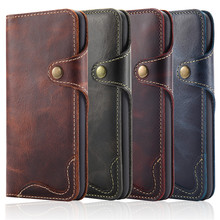 Newisdom For iPhone xs max Flip Leather cover Phone Case Wallet Card Slots Cases NATURAL X case XR 8 Plus 7 luxury  bronw