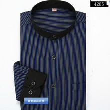 England Style Men Long Sleeve Striped Printed Stand Collar Shirts Camisa,Cotton High Quality Slim Fit Chemise Size S-3XL