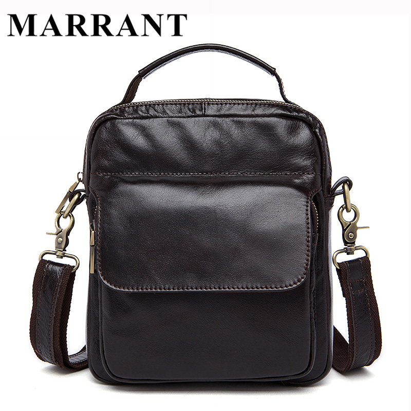 ФОТО MARRANT Genuine Leather Bag Men Crossbody bags fashion Men's Messenger leather Shoulder Bags handbags Small Travel Male Bag 9073