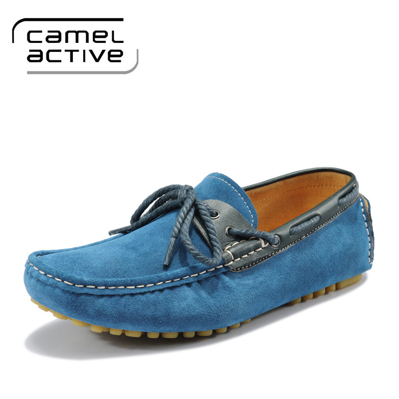 Cheap Men loafers camel active shoes leather shoes sport