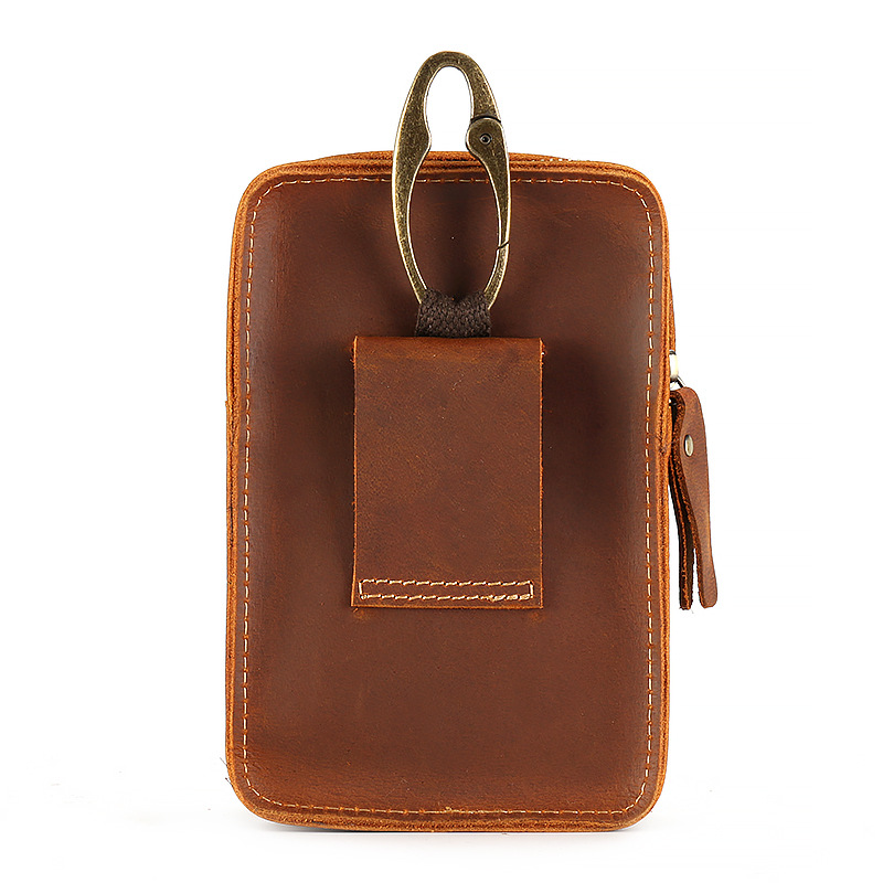 4-6 ''universel téléphones mobiles pochette fermetures à glissière portefeuille étui ceinture pince sac pour smartphone taille ceinture pochette étui téléphone portable sac - 3