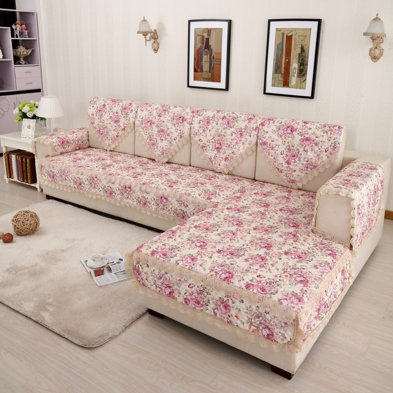 Decorative sofa cover floral Sectional Slip Cover Sofas Modern ...