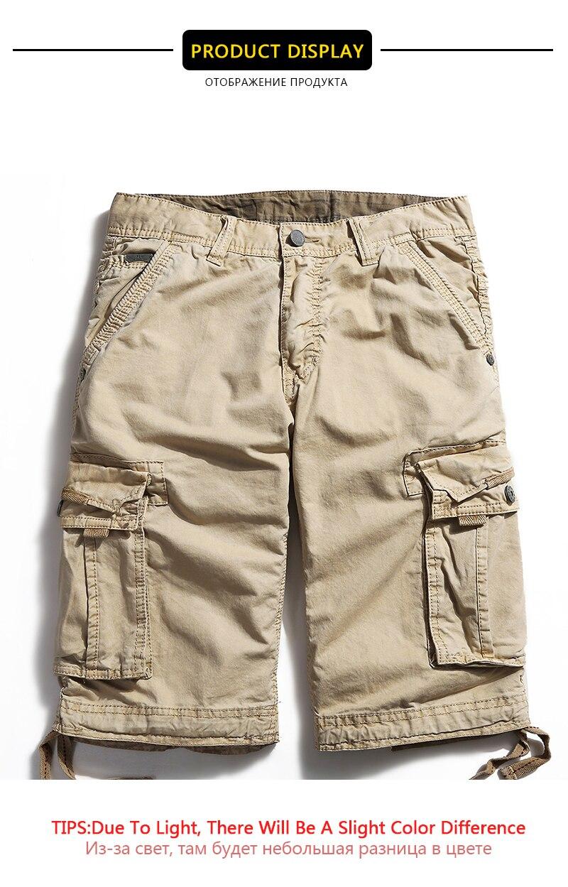 fae5350810 Compre Verano 2019 Nuevos Pantalones Cortos Cargo Hombres Sueltos ...