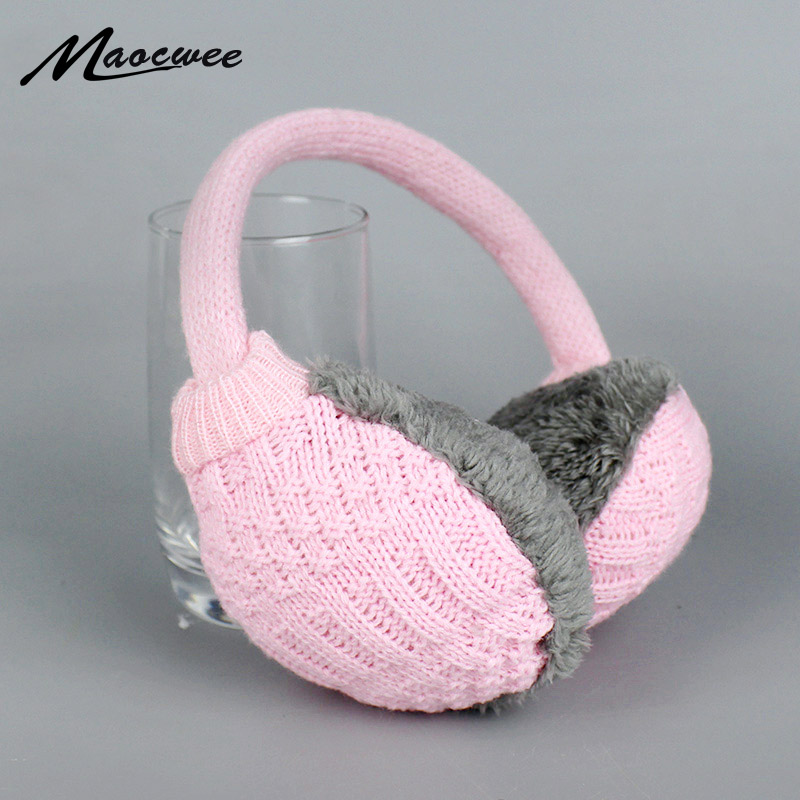 2018 New Style Winter Earmuffs For Women Man Warm Unisex Ear Muffs Winter Ear Cover Knitted Plush Winter Ear Warmers