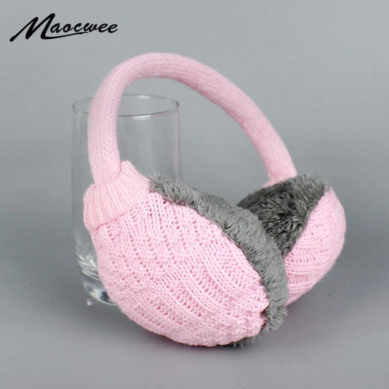 2018 New Style Winter Earmuffs For Women Man Warm Unisex Ear Muffs Winter Ear Cover Knitted Plush Winter Ear Warmers