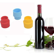 ISHOWTIENDA 1PCS Bottle Caps Wine Beer Cap Silicone Bottle Cover Home Supplies Reusable Vacuum Sealed Red Wine Bottle Stopper(China)