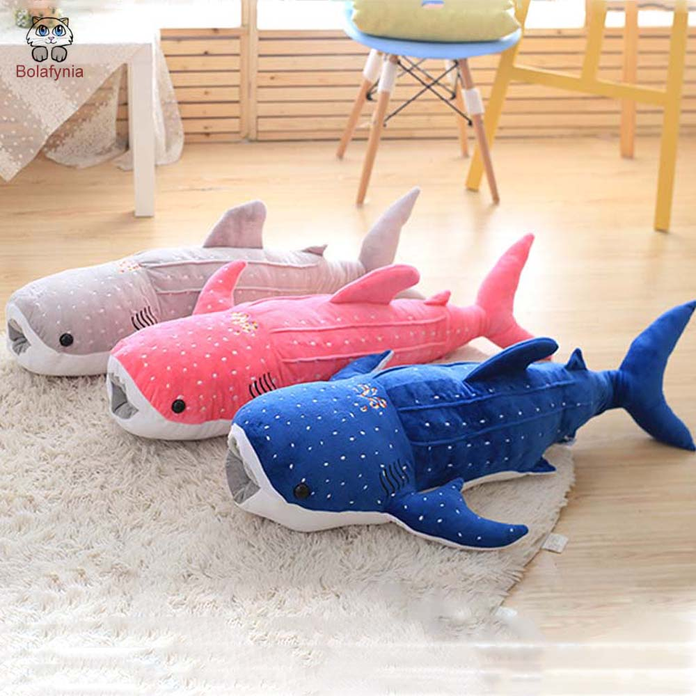 BOLAFYNIA Children Plush Stuffed Toy Shark doll pillow Baby Kids Toy for Christmas Birthday Gift