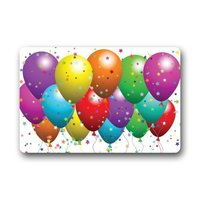 Great Discount Happy Birthday Balloons With Vivid Color Clean Machine Indoor And Outdoor Doormat Door Mat