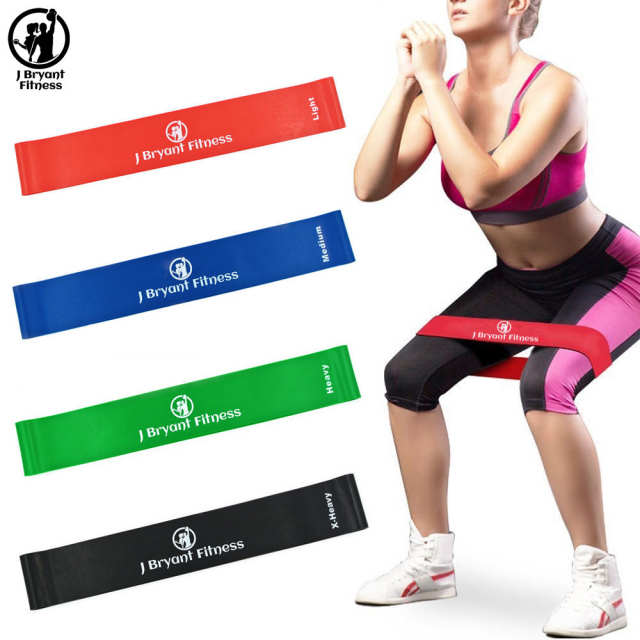 8 Level Fitness Resistance Bands Exercise Loop Gym Equipment ...