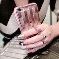 I6 6 S Плюс Покрытие Переплетения Случае Роскошные Золотые Вязать Ясно ТПУ Случае для Apple Iphone 6 4.7/6 Plus 5.5/6 S/6 S Плюс Кольцо Стенд крышка