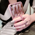 i6 6S Plus Plating Weave Case Luxury Gold Knit Clear TPU Case For Apple iPhone 6 4.7/6 Plus 5.5/ 6S /6S Plus Ring Stand Cover