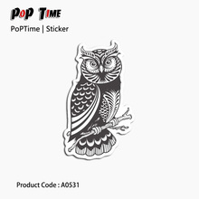 A0531 Grey Owl Stick font b figure b font Emoji Stickers For Children Anime Funny Cartoon