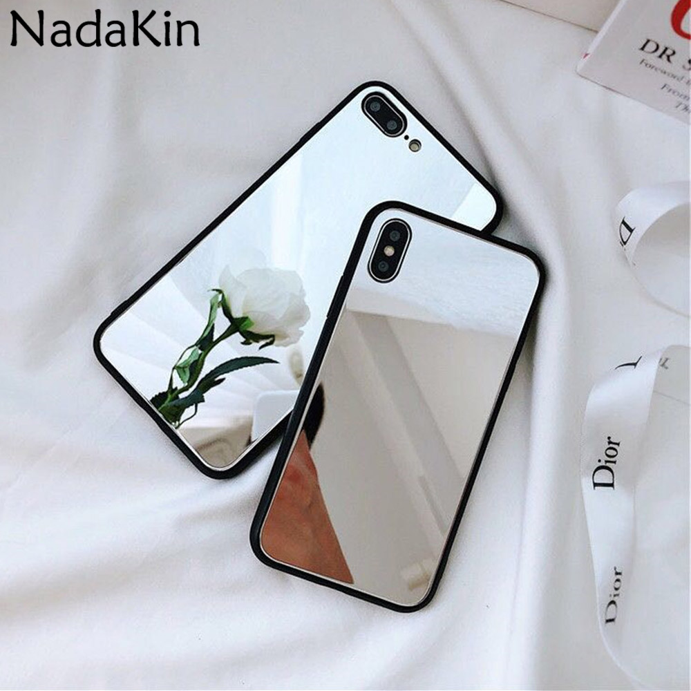 Makeup Mirror Back Fitted <font><b>Phone</b></font> <font><b>Case</b></font> for <font><b>OPPO</b></font> R9S R11 R11S <font><b>A37</b></font> A59 F1S A57 A39 F5 A73 A83 A1 F7 F9 A7X A3 A5 A3S Stylish Shell image