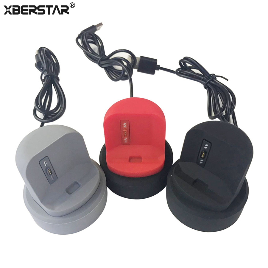 XBERSTAR Watch Charger For Fitbit Ionic Charging Dock Station Stand Cradle Holder USB Charge Cable