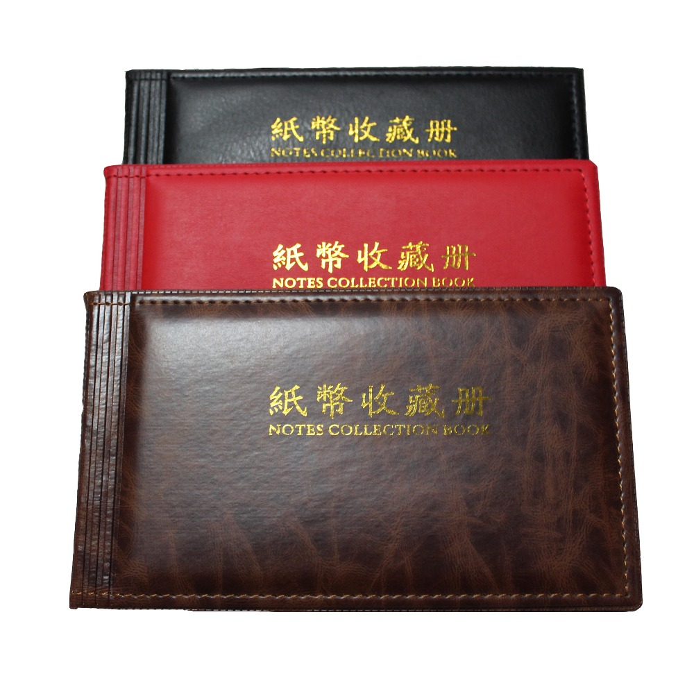 BankNote Album 30 Pages Can Hold 60 BankNotes Notes Collection Book 3 Color in Photo Albums from Home Garden