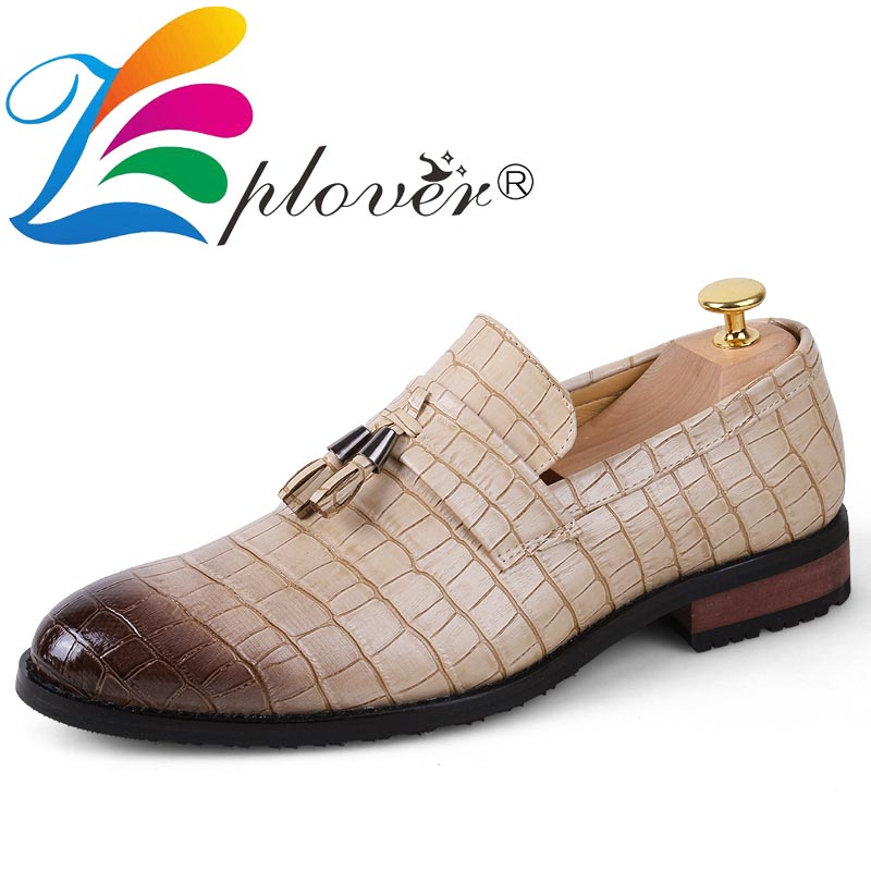 b452b7dd Marca borla para Hombre Zapatos de vestir de cuero italiano zapatos  formales hombres mocasines boda zapatos de fiesta Oxford hombres planos de  gran tamaño