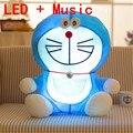 25 см Stand By Me Doraemon Плюшевые игрушки Kawayi красочный СВЕТОДИОДНЫЕ musice Cat Аниме Плюшевые куклы Дети Подарочные Детские Игрушки день рождения настоящее