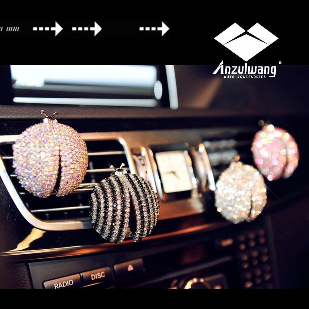 ANZULWANG 2 stks High-End Luxe Creatieve Auto Airconditioning Outlet Luchtparfum Auto-interieur Parfum Geschikt voor alle automodellen