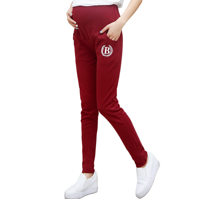 B Cotton Maternity Pants Casual Pregnancy Trousers for Pregnant Women High Elasticity Comfortable Spring Autumn Pencil Pants