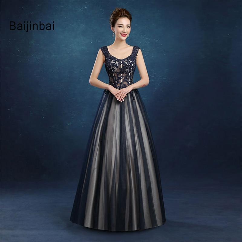 Baijinbai Vestido De Noiva New Design A Line Lace Appliques Black Tiered Wedding Dress 2018 Vintage Lace Up Bridal Dress7122101
