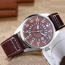 все цены на Luxury Brand Men's Pilot Watches reloj hombre Men Calendar Waterproof Watch Man Casual Sports Military Leather Belt Wrist Watch онлайн