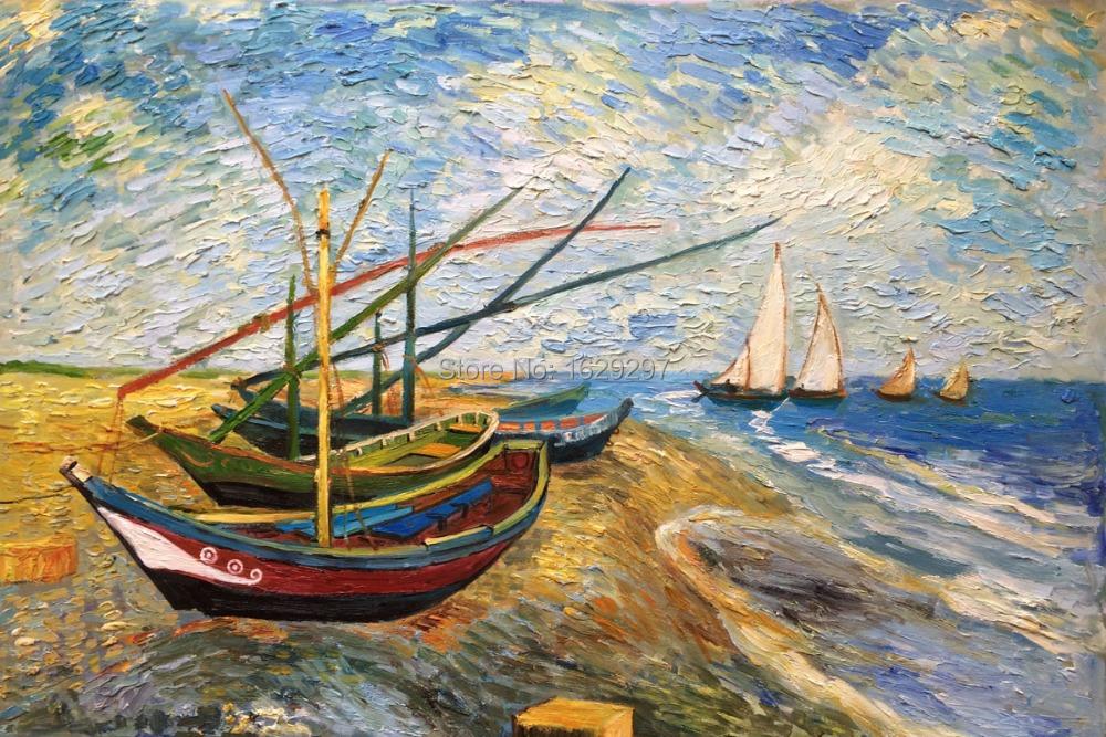Resultado de imagem para Barcos de Saintes-Maries van Gogh