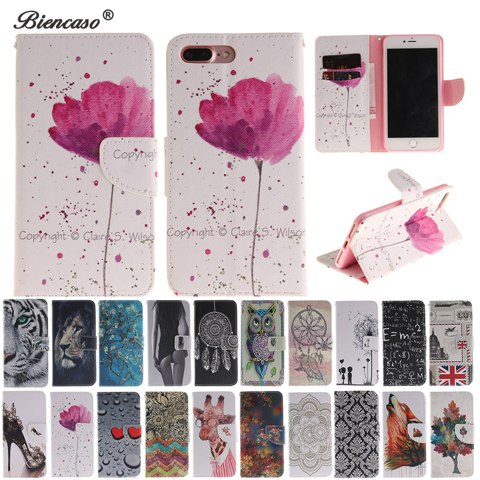 B42 Orchid Flip Leather Case Wallet Cover For iPhone X XR XS Max 5 5s SE 5C 4 4s 6 6s 7 8 Plus 7Plus Touch 5 6 Coque Phone Capa