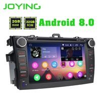 Joying 8Double 2 Din Android Car radio Stereo Audio Head Unit For Toyota Corolla Multimedia Player GPS Navigation Support Zlink