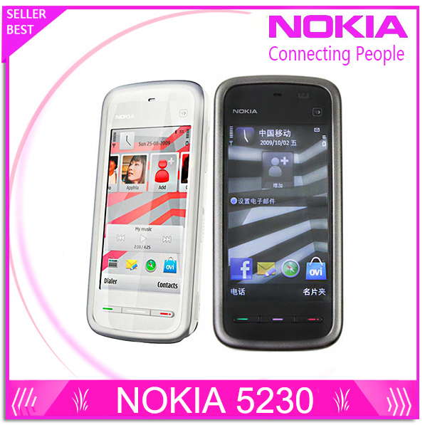 Unlocked Original phone Nokia 5230 GSM WCDMA Phone GPS FM Bluetooth 3 2 Screen
