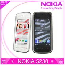 """Разблокирована оригинальный телефон Nokia 5230 GSM WCDMA телефон GPS FM Bluetooth 3.2 """"Экран"""