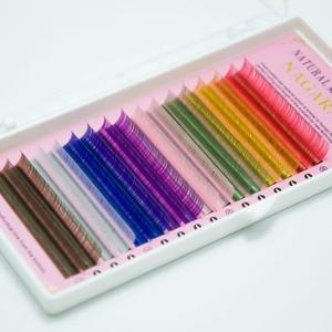 Image 3 - NAGARAKU faux cils colorés, Extension pour maquillage, 2 plateaux, 16 rangées, 8 couleurs, arc en ciel, de haute qualité
