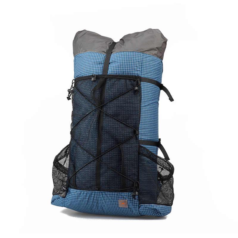 3F UL เกียร์ Camping กลางแจ้งกระเป๋าเดินทางกระเป๋าเป้สะพายหลัง rucksack 26L 38L Ultralight Frameless Trekking แพ็ค