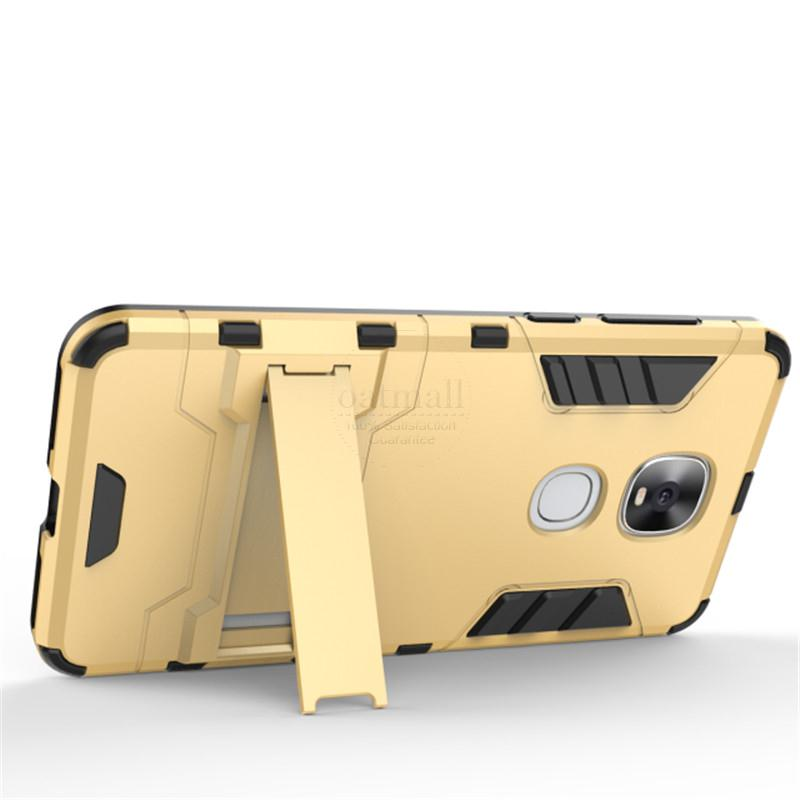 Dual Layer Rugged Hybrid Armor Resistant For Letv Leeco Le Pro 3 Dual AI  X651 Case PC + TPU Kick Stand Back Cover Phone Bags