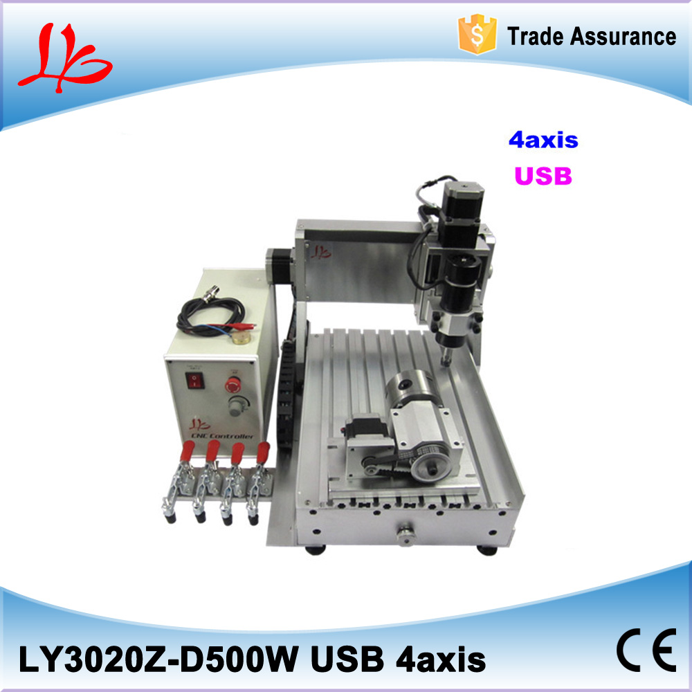 500W mini cnc machine, cnc 3020 usb port 4 axis engraving machine with ball screw for wood, metal 500w mini cnc router usb port 4 axis cnc engraving machine with ball screw for wood metal