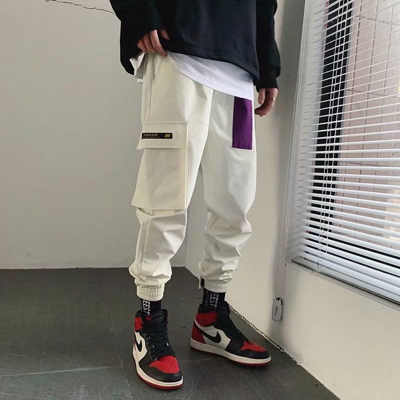 Hip Hip Pants Vintage Color Block Patchwork Corduroy Cargo Harem Pant Streetwear Harajuku Jogger Sweatpant Cotton Trousers 2020 5