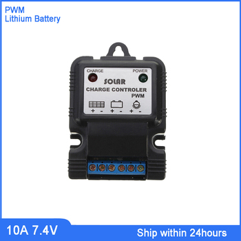 Hot Sale 7.4V 10A Solar Lithium Battery Charge Controller/Portable CE PWM Mode Solar Lawn Light/Street Light Charge Regulator