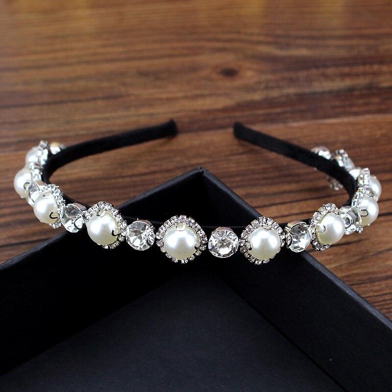 Rhinestone Headband Hoop Jewelry-Accessories Crystal Trendy Korean Party Women Clear