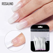 ROSALIND Fiber Glass Nails Extenstion 10/20pcs/lot Silk Set Nail Extension Acrylic Tips Fiber Gel Polish Nail Pinching Clips(China)