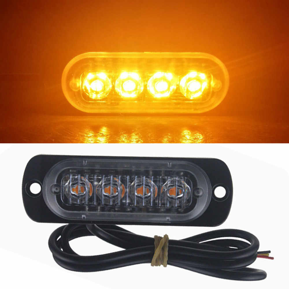 Car Warning lamp 4 LED Car Flash Truck Emergency Light Bar Hazard Strobe Warning Lamp Candid a19