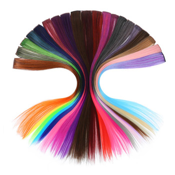 XUBCHC New Fashion 20 Color Trendy Hair Piece Hair Band Baby Girls Hair Accessories Multi-color Wig For Women Hair Jewelry