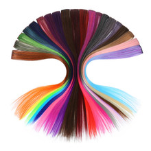 New Fashion Hair clip 20 Color Trendy Hair Piece Hair Band Baby Girls Hair Accessories Multi-color Wig For Women Hair Jewelry(China)